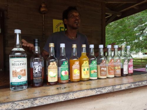 Degustation des rhumes sur île de Marie Galante